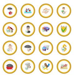 Insurance icon circle vector