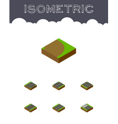 Isometric way set of unilateral rotation upwards vector