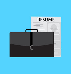 Job search and interview vector