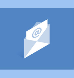 letter and envelope icon vector image