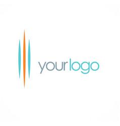 line abstract company logo vector image