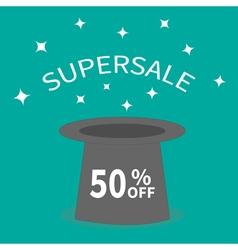 Magic hat supersale tag sale background big sale vector