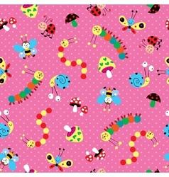 Meadow kids pattern vector