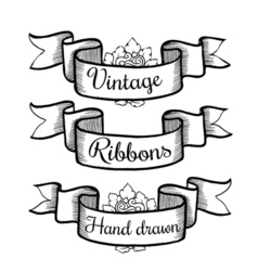 Old hand drawn banner to scrapbook or design in vector image