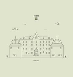 Orebro castle sweden vector