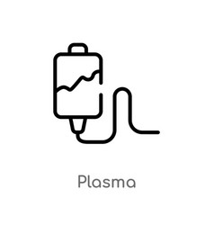 outline plasma icon isolated black simple line vector image