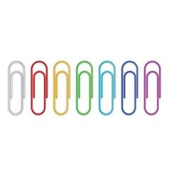 Paper clips set vector