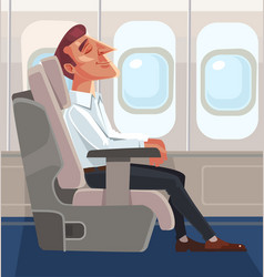 passenger man character sitting chair and relax vector image