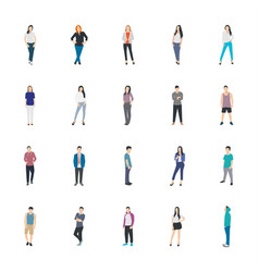 People character icon vector