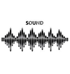Pulse music player poster audio metallic wave vector