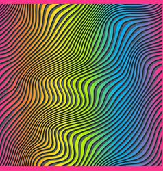 Rainbow stripes seamless texture vector