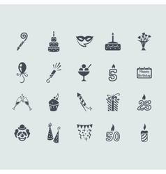 Set of birthday icons vector