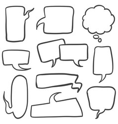 Set of bubble text collection stock vector