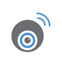 Smart wireless ip camera icon on white background vector