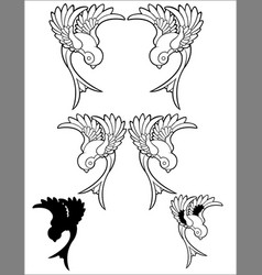 Sparrow tattoo birds vector