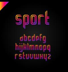 Sport font square alphabet or letter set vector