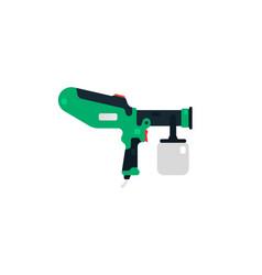 spray gun airbrush side view power tools vector image