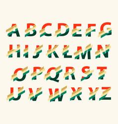 Stylized splashy font and alphabet vector