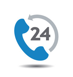Support concept 24 hours icon vector