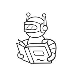 Text reading bot linear icon screen reader vector