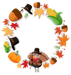 thanks giving circle concept vector image