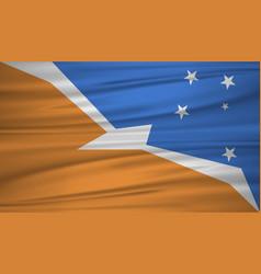 Tierra del fuego province flag flag of tierra vector