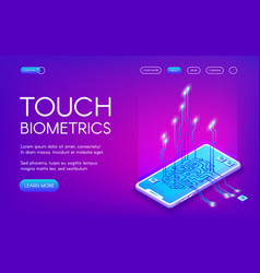 Touch biometrics technology vector