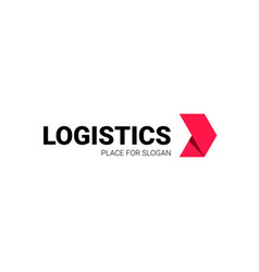 transport logistic arrow logo delivery vector image