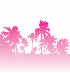 tropical backdrop vector image