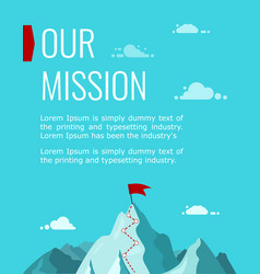 Vertical poster our company s mission vector