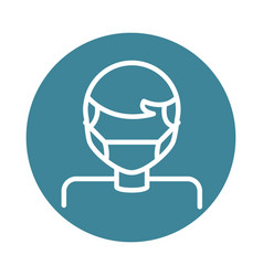 virus covid19 19 pandemic man wearing protective vector image