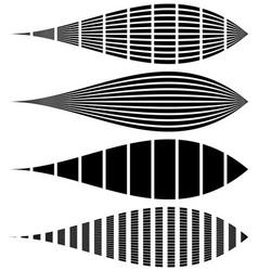 Warped distorted rectangles vertical horizontal vector