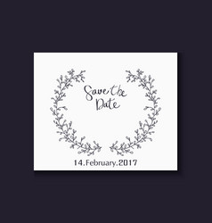 wedding invitation with lettering decorative with vector image