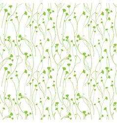 Wild flower seamless floral endless pattern vector
