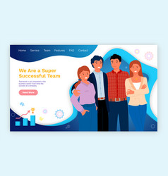 workers man and woman successful team vector image