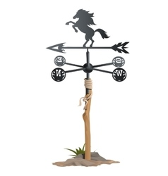 Wrought iron weathervane in form of horse vector