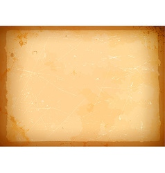 Aged paper frame vector image vector image