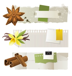 aroma banners vector image vector image