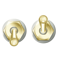 Golden Toggle Switch Button vector image vector image