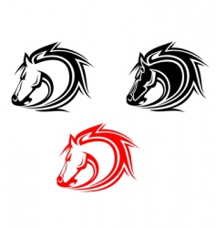 horses tattoo vector image vector image