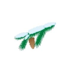 Pine branch icon cartoon style vector image