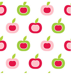 Seamless pattern with abstract color apples vector