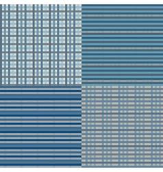 Checkered Seamless Blue vector image vector image