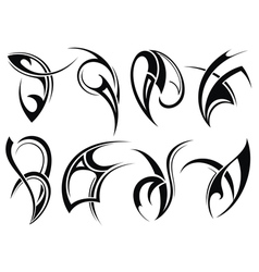 Collection of Tribal tattoo vector image vector image