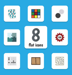 flat icon play set of poker gomoku chequer and vector image vector image