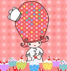 Little bakery vector image vector image