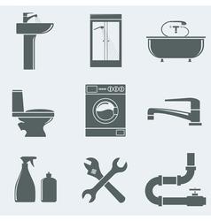 sanitary engineering vector image vector image