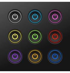 Start power button in dark background vector image