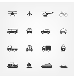 Taxi icons set Flat style vector image