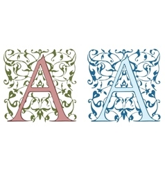 Vintage initials letter B vector image vector image
